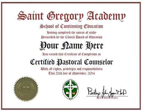 Pastoral Counselor Certification